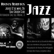 Micros abiertos de Jazz solidarios