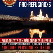 Concentración Solidaria Pro-Refugiadxs en la feria