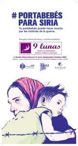Cartel campaña portabebés para Siria