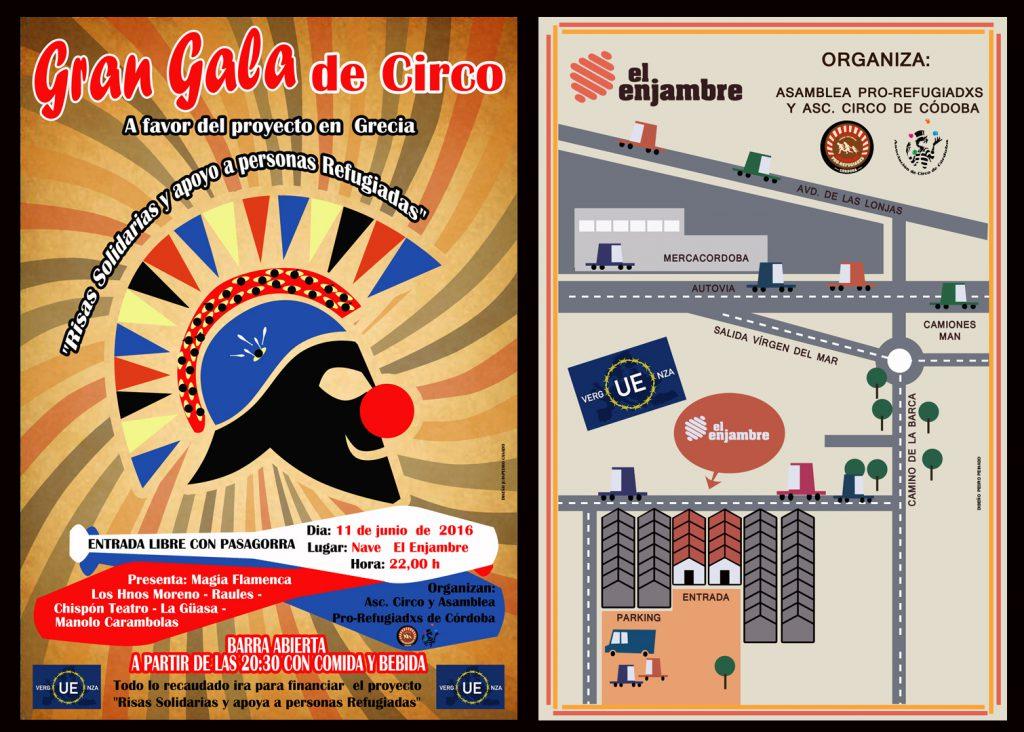 Cartel Gala Benéfica proyecto Risas Solidarias