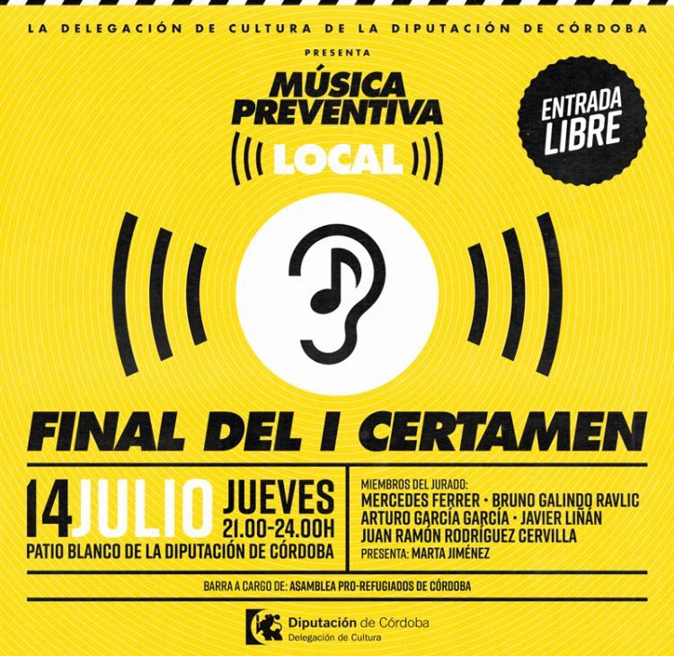 Cartel del I Certamen Música Preventiva Local.