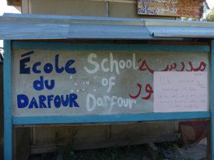 Entrada a la Escuela de Darfur