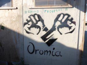 Símbolo de las protestas de la etnia Oromo de Etiopía