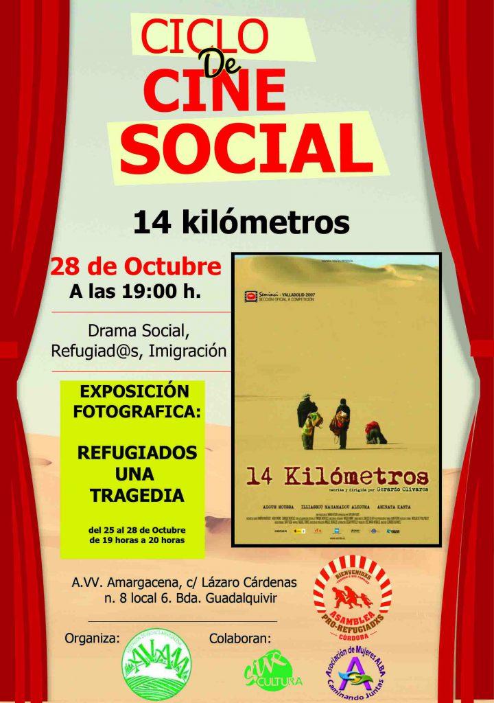 """Proyección película """"14 kilómetros"""" en Asociación de Vecinos Amargacena."""