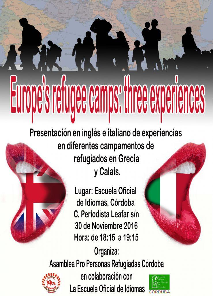 Cartel mesa redonda en la escuela oficial de idiomas de Córdoba