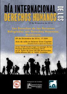 Cartel APDHA día internacional de los Derechos Humanos