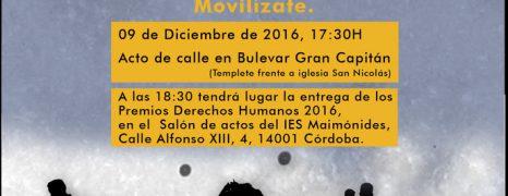 APDHA Córdoba concede Premios DDHH 2016 a la plataforma Córdoba Ciudad Refugio y Asamblea Pro Refugiadxs de Córdoba