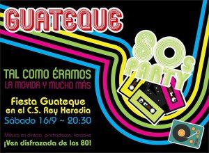 Cartel fiesta Guateque en el Centro Social Rey Heredia