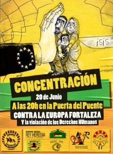 Concentración para conmemorar el Día Internacional de las Personas Refugiadas. 20h en la Puert del Puente de Córdoba.