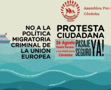 Lunes 26 de agosto: Acto de protesta contra la política criminal de fronteras de la UE